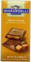 Ghirardelli Chocolate Bar, Milk and Caramel, 3.5 oz., 6 Count - $35.39