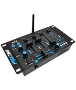 Pyle Pro PMX7BU 3-Channel Bluetooth DJ Audio Mixer - $73.24