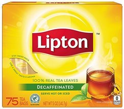 Lipton Black Tea Bags, Decaffeinated 75 ct (Pack of 2) - $25.55