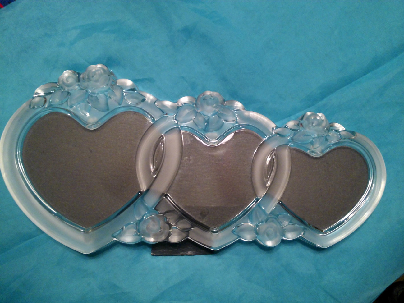 Primary image for Mikasa Rosemont Glass Triple Heart Picture Frame