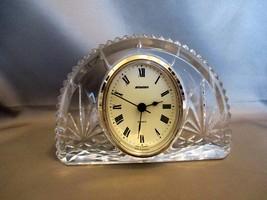 Staiger, Germany ~Half Crescent Crystal Quartz Shelf Desk Clock - $5.99