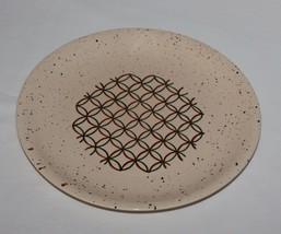 Heyday Dinner Plate Vernonware Metlox California Brown Spatter Green Geo... - $9.89