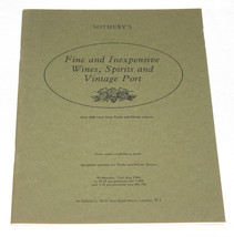 Sotheby's Catalogue Fine & Inexpensive Wines Spirits Port 23 May 1984 - $9.99