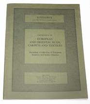 Sothebys Catalogue European Oriental Rugs Carpets Textiles Indian Dhurri... - $9.99