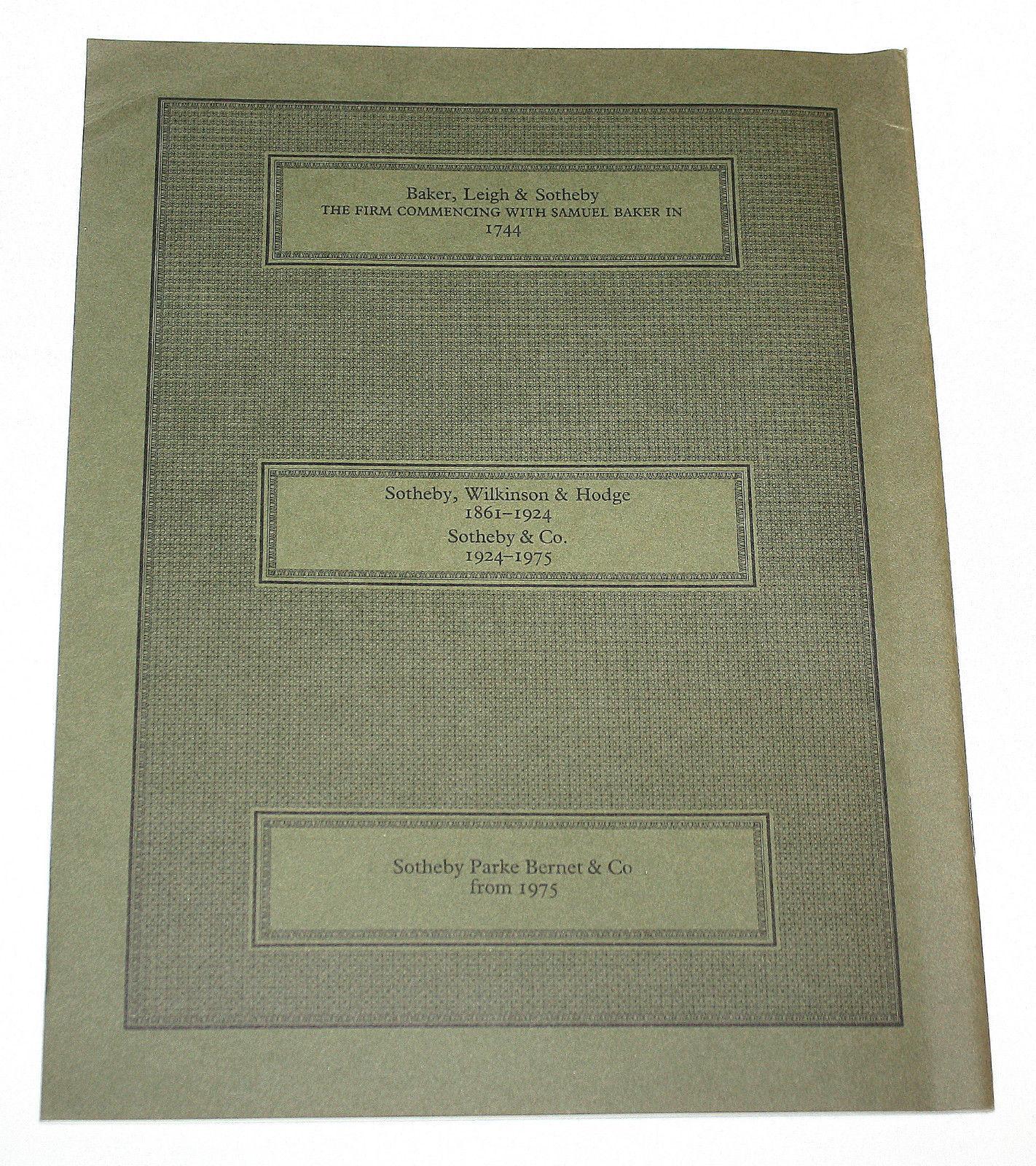 Sothebys Catalogue European Oriental Rugs Carpets Textiles Indian Dhurries 1984