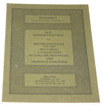 Sothebys Catalogue Old Master British Paintings 1550-1850 Provincial Jul... - $13.99