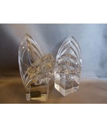 Mikasa Crystal Art Deco Candle Holders  Square Base~Germany - $31.00