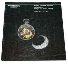 Sotheby's Catalogue Watches Clocks Scientific Instruments Jewelry NY Jun... - $11.87