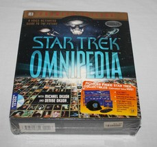 Star Trek Omnipedia PC 1995 Premier Edition Windows 95 Simon Schuster New - $15.95