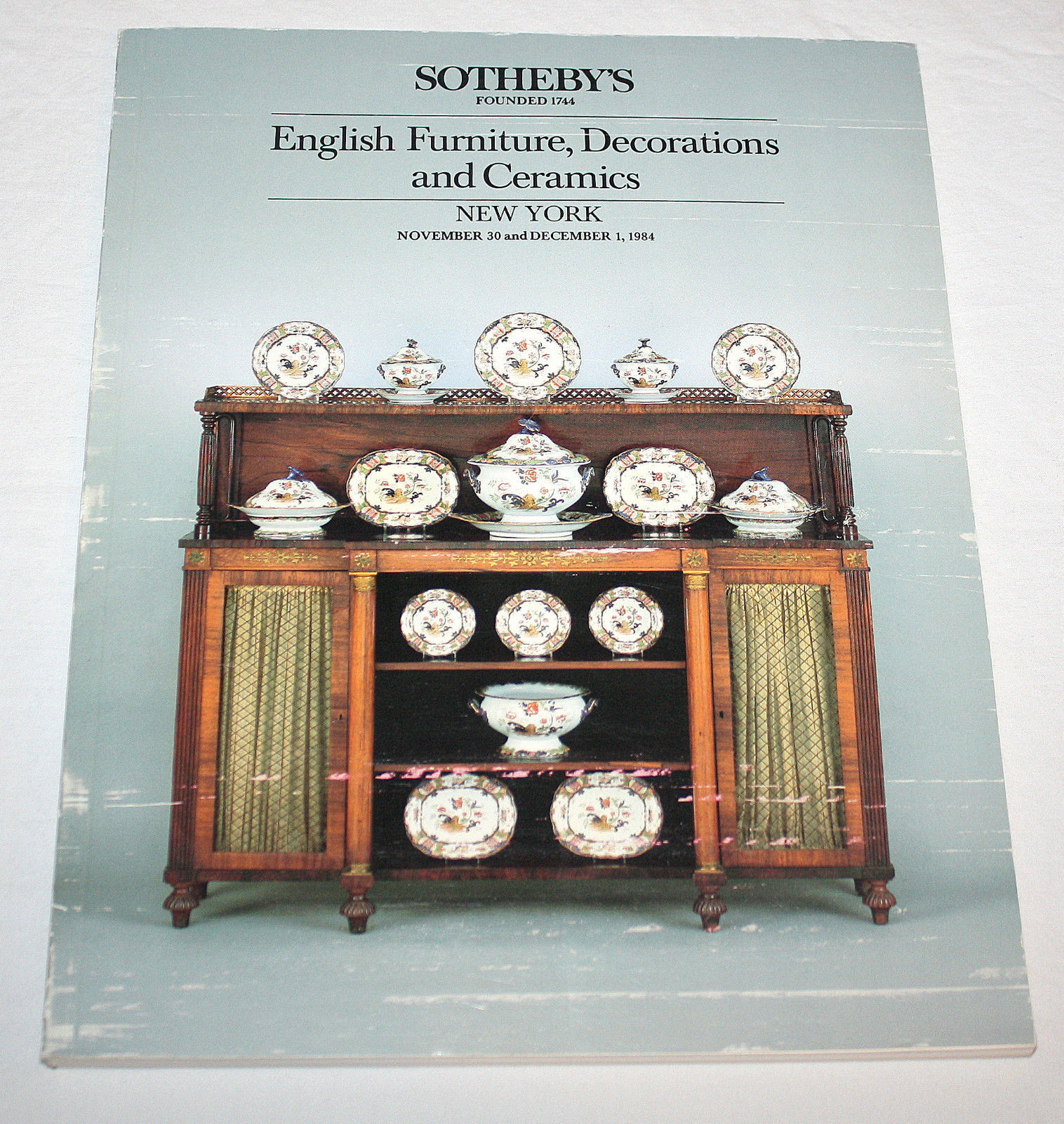 Sotheby Catalog English Furniture Decorations Ceramics Donner Williamsburg 1984