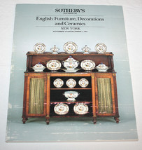 Sotheby Catalog English Furniture Decorations C... - $12.99