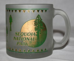 Sequoia National Park Mug Frosted Glass USA California - $21.50