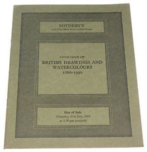 Sotheby's Catalogue British Drawings Watercolours 1760-1930 1983 + Price... - $9.99