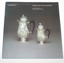 Sotheby's Auction Catalogue English Continental Silver October 28 1983 N... - $13.99