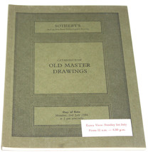 Sothebys Auction Catalogue Old Master Drawings London July 1984 - $12.99