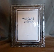 Waterford Crystal 5x7 Photo Frame Rare Discontinued Marquis Blaze - $50.00