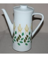 Rosenthal KPM Krister Coffee Pot Germany Porcelain Yellow Rose Buds Art ... - $14.36