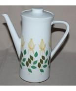 Rosenthal KPM Krister Coffee Pot Germany Porcelain Yellow Rose Buds Art ... - $14.50