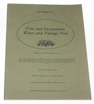 Sotheby's Catalogue Fine & Inexpensive Wines & Vintage Port 14 March 1984 - $8.90