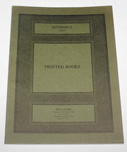 Sothebys Auction Catalogue London Printed Books Maps Atlases 25 June 9 J... - $10.88