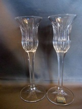 "Pair of Mikasa ""Icicles"" 8 Inch Taper Candle Holders ~ German Made - $6.99"