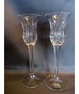 """Pair of Mikasa """"Icicles"""" 8 Inch Taper Candle Holders ~ German Made - $6.99"""