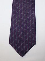 Bert Pulitzer Necktie Purple Green Gray Links C... - $9.25