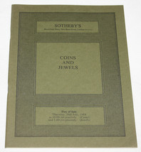 Sotheby's July 26 1984 Catalogue Coins and Jewels London 706 Auction Lots - $10.99
