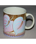 Laurel Burch Mug Anthurium Cream Pink Blue Flow... - $21.50