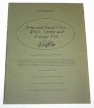 Sothebys Catalogue Fine Inexpensive Wine Spirits Vintage Port London Jul... - $10.99