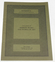 Sothebys Catalogue Hebrew Books & Works of Art London 3 July 1984 - $9.89
