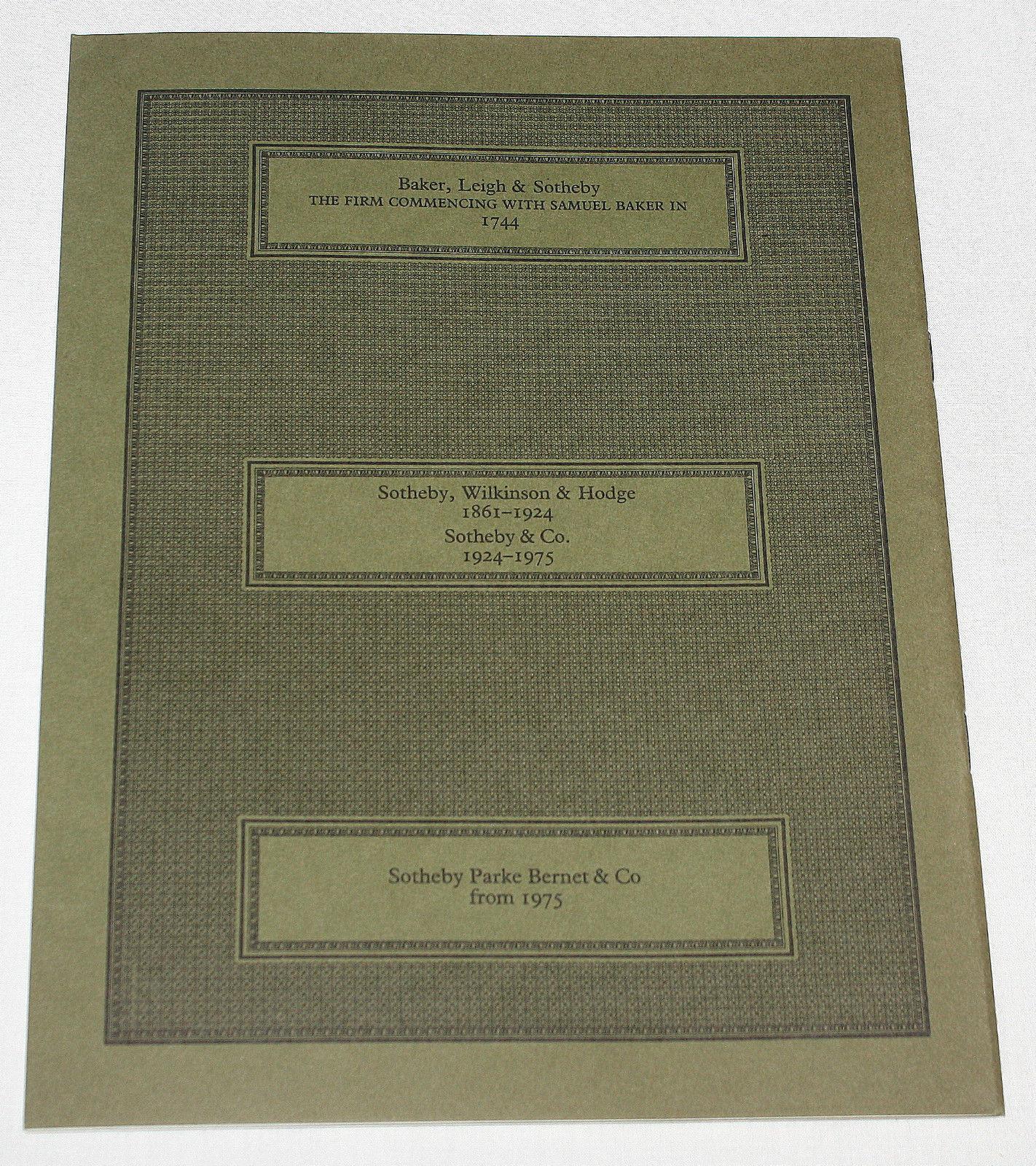 Sothebys Catalogue Hebrew Books & Works of Art London 3 July 1984