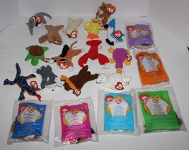 Lot of 20 Ty Teenie Beanie Babies Some New Nook Stretchy Iggy Chip Nuts ... - $11.88