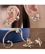 Butterfly Cuff Earring With Butterfly Stud  - $12.99