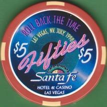 $5 Casino Chip, Santa Fe, Las Vegas, NV. Fifties 1998. K60. - $6.50