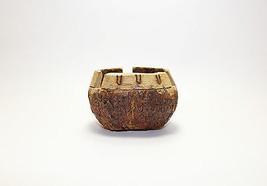 Wooden Bowl Ashtray Primitive Art - $29.69