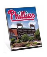 """MLB Philadelphia Phillies Stadium Premium 8"""" x 10"""" Solid Wood Easel Sign - $9.95"""