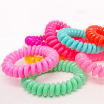 10pcs/lot Candy Colors Ponytail Holders Resin Hair Band Elastics Accesso... - $4.49