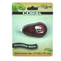 "Coral Correction Tape Dispenser 195"" - $6.55"