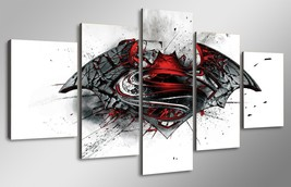 5 Pcs With Framed Printed Batman Vs Superman Movie Painting For Kid Room... - $99.99