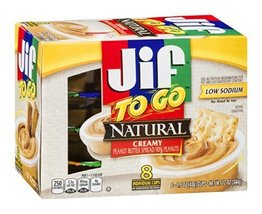Jif to Go Natural Creamy Peanut Butter 8 Indivi... - $36.98