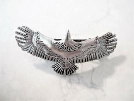 Silver metal eagle bird hair clip barrette - $12.30