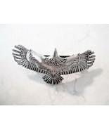 Silver metal eagle bird hair clip barrette - £8.83 GBP