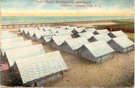Tent Village Atlantic City New Jersey Vintage 1909 Post Card - $5.00
