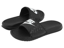 Nike Classic Women's Benassi JDI Slide in Black with White Logo in Sizes 5 to 12 - $27.99