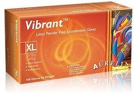 Vibrant Micro-textured Powder Free Latex Exam Gloves (Box of 100) - Size: Ex... - $6.37