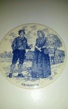 """H&R Johnson Delft Porcelain Medallion Lg 6"""" Groningen HTF - $29.99"""