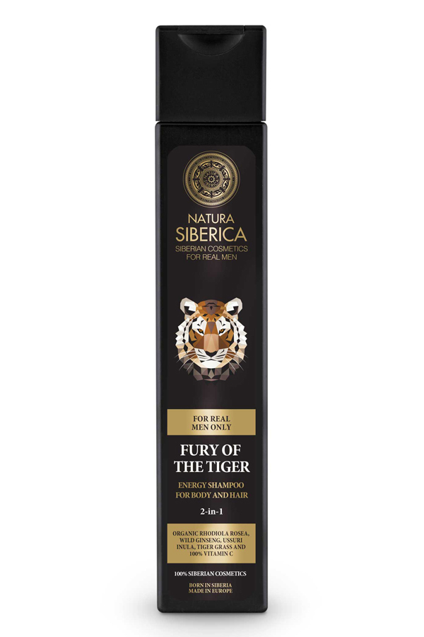 Fury Of The Tiger Energy Shampoo For Body And Hair 2'n1 For Men Natura Siberica