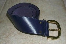 Purple Leather Belt Women's size Small - $16.99