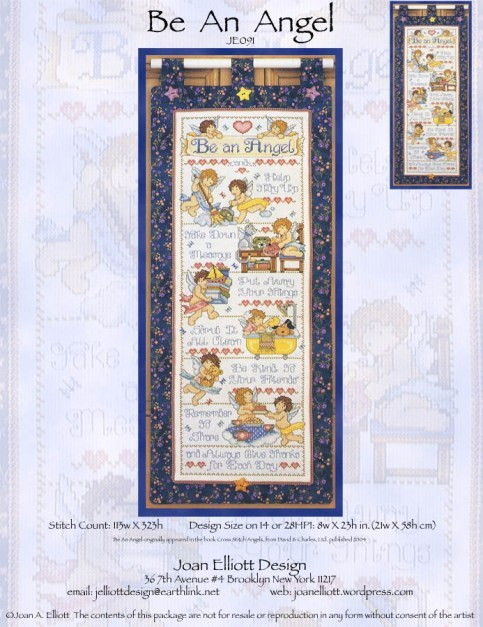 Primary image for Be An Angel JE091 cross stitch chart Joan Elliott Designs